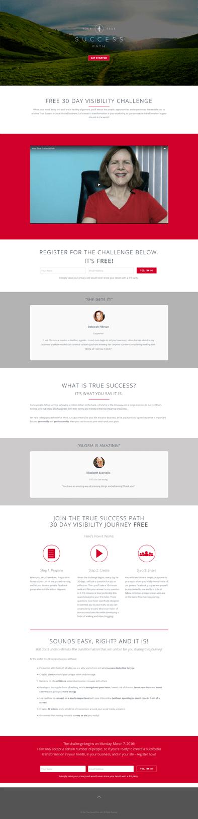 Ali Rand Web Design Your True Success Path Landing Page