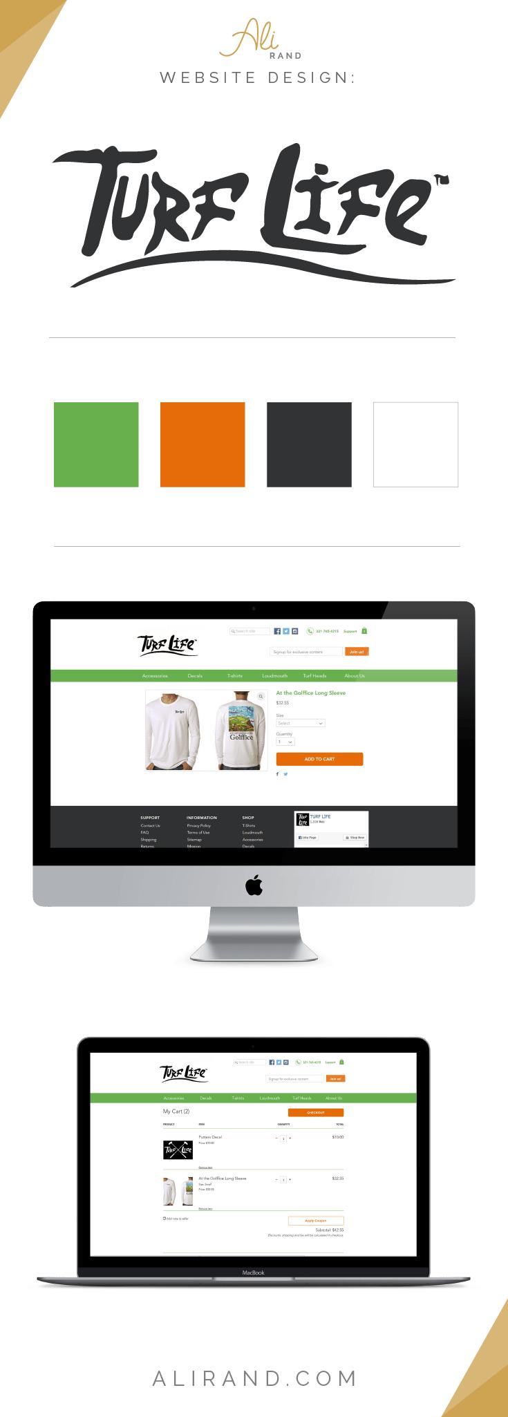 Ali Rand Website Design for Turf Life