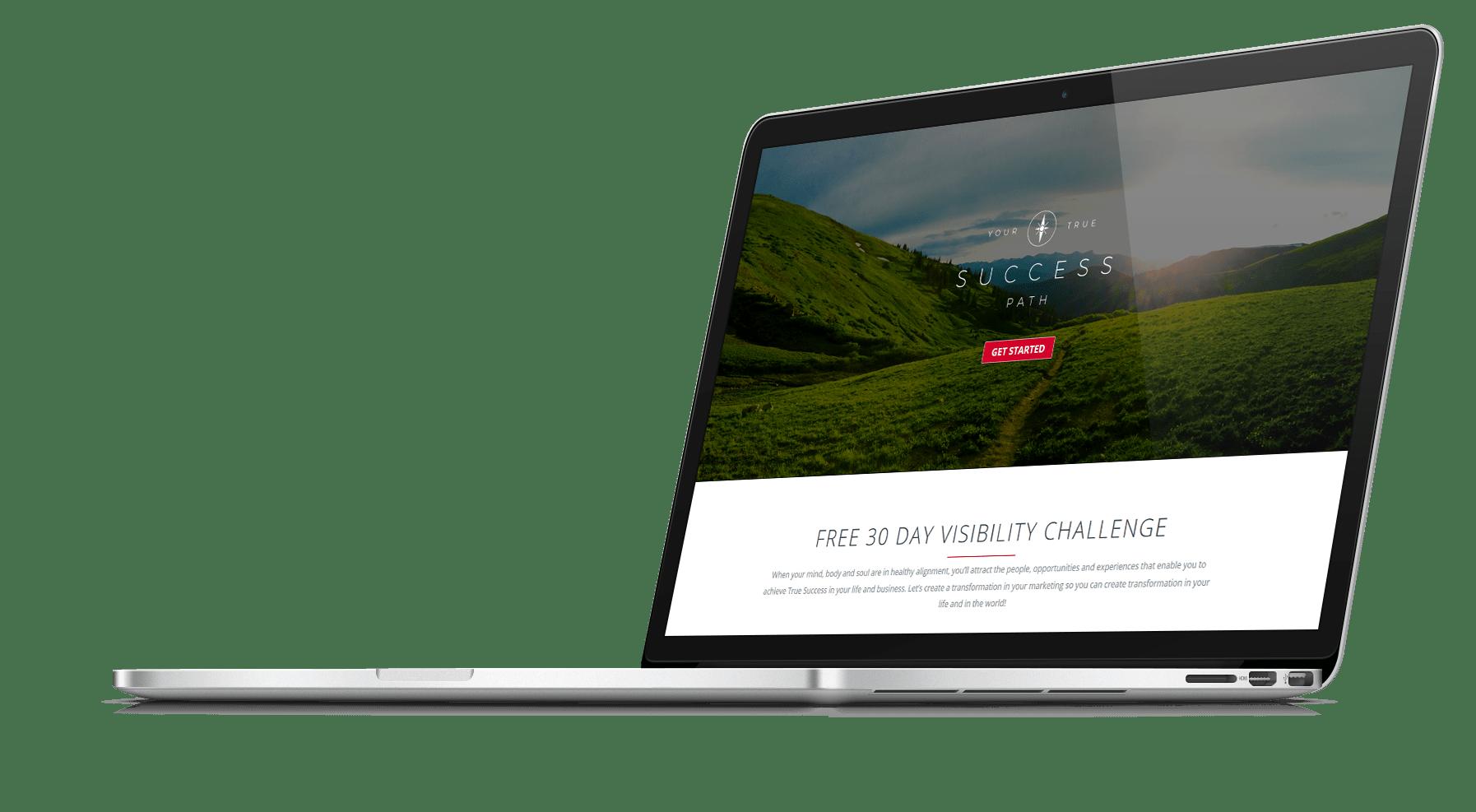 Your True Success Path Home Page Website Design-min