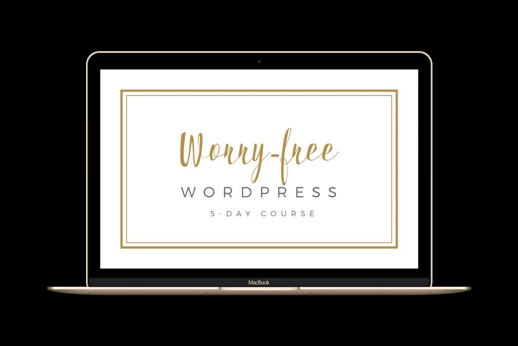 Ali Rand Web Design Home Page Worry Free WordPress Course