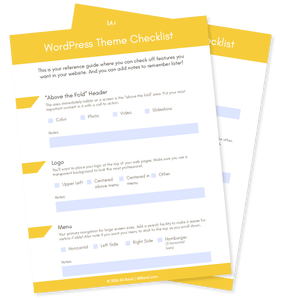 WordPress Theme Checklist and Sheet to Choose Your Perfect Theme by Ali Rand