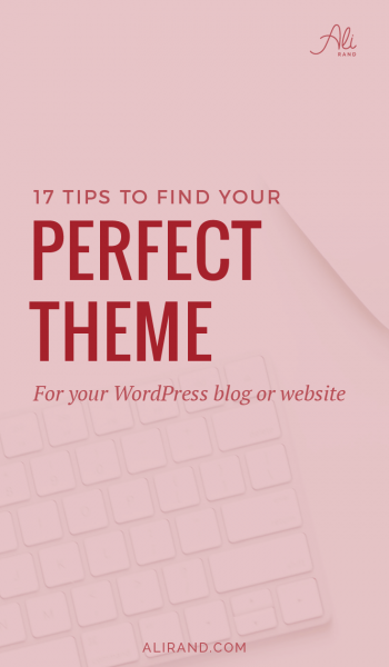 Struggling to choose the best WordPress theme for your website or blog? There are so many out there, but this post will help guide you to find the right one! https://alirand.com/wordpress-theme-tips/