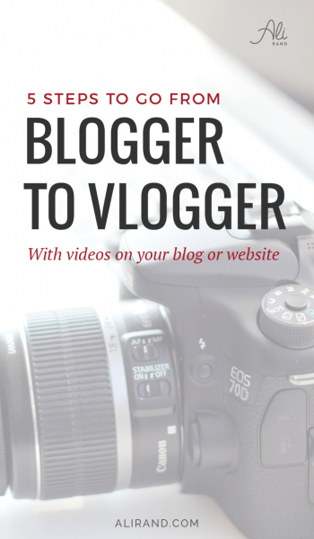 Start making videos in 2018 for your blog or website with just 5 simple steps. Plus, save yourself $500 as no fancy camera is needed! Read how it's done at https://alirand.com/blogger-to-vlogger/