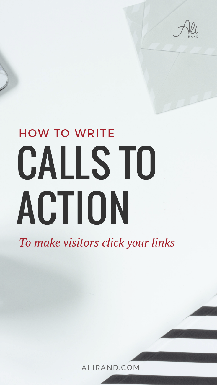 How to Write Calls to Action to make website visitors click your links