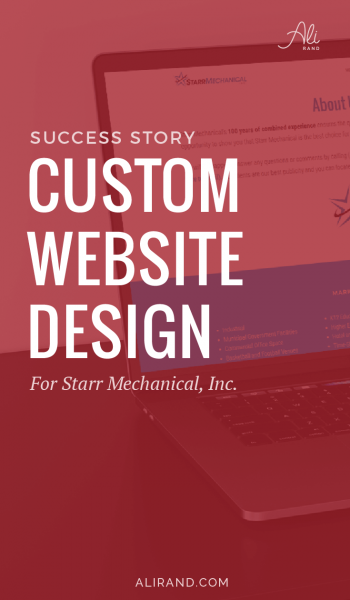 Just finished a fantastic website transformation for my latest custom website client! You can read the behind the scenes story to see how it all came together >> https://alirand.com/custom-website-starr-mechanical/