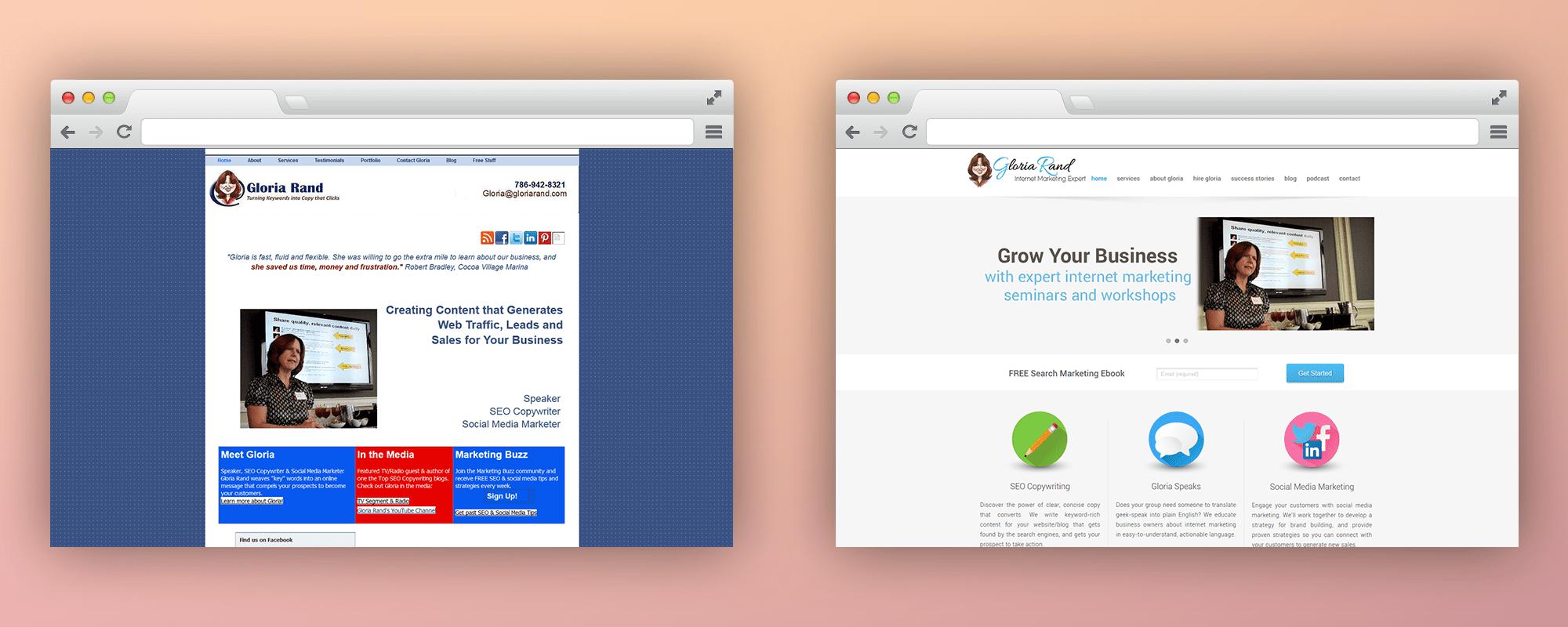 Gloria Rand BA Home-Website-Design