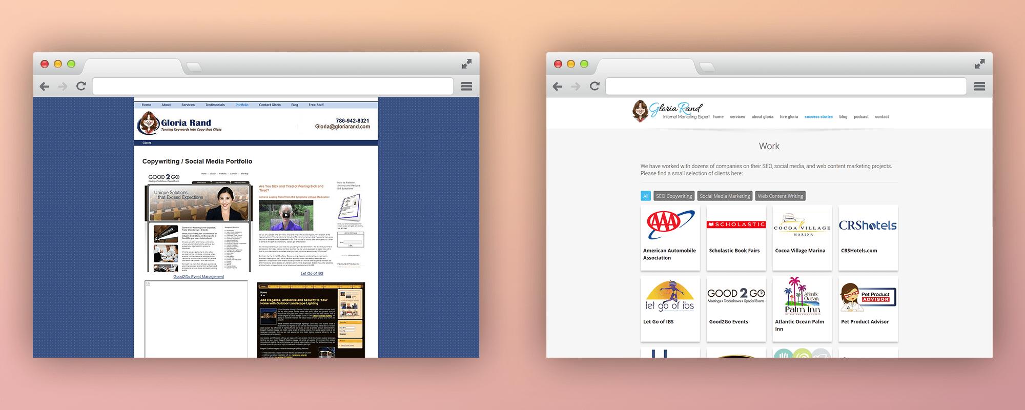 Gloria Rand BA Work-Website-Design
