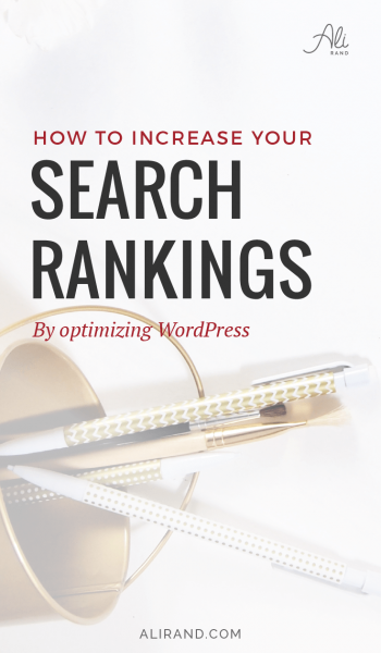 Does SEO have you all confused? Well, you don't have to be an expert to get results. Learn the basics to improve your search ranking in my latest post >> https://alirand.com/optimize-wordpress-website/