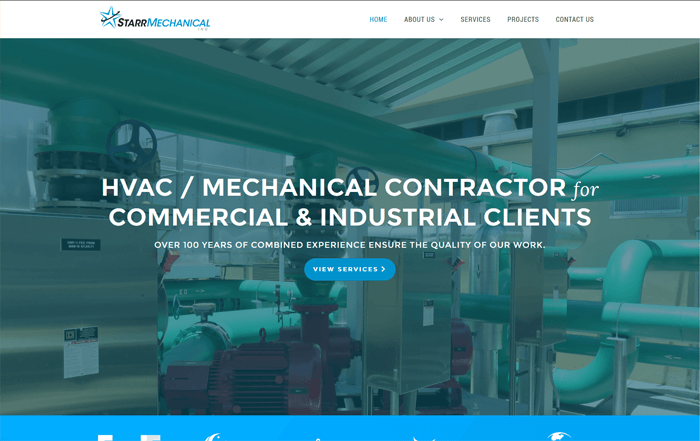 Ali Rand Web Design for Starr Mechanical Home Page