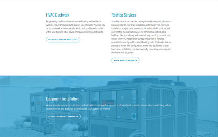 Ali Rand Web Design for Starr Mechanical Services Bottom