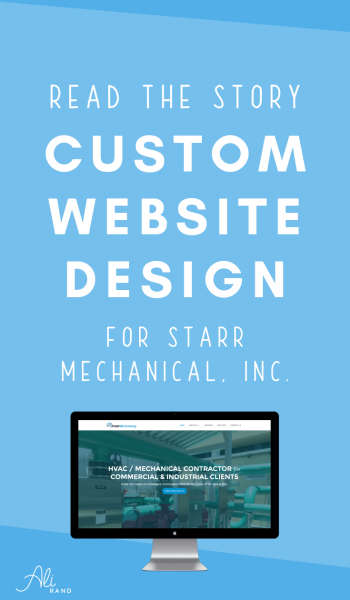 Behind the Scenes Look at Starr Mechanical's New Website