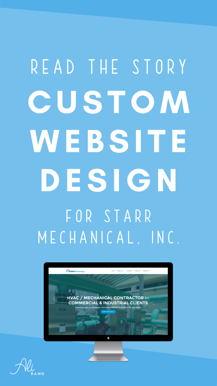 See the fantastic transformation for my latest custom website project! And read the behind the scenes story to see how it all came together >> https://alirand.com/custom-website-starr-mechanical/