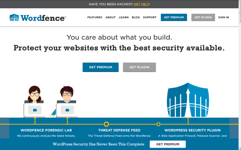 Wordfence home page