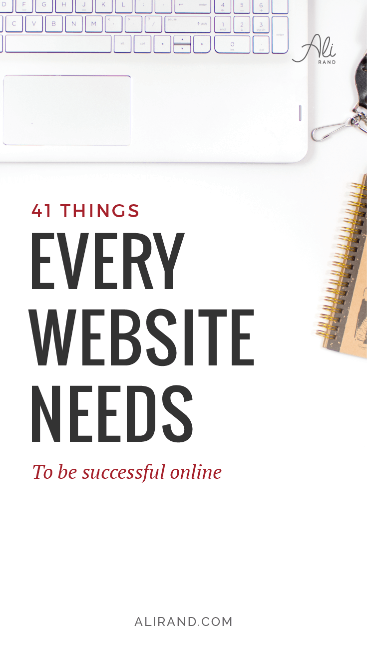 Is your website struggling to make you money? No consult calls, no sales, no new customers? In my latest post, I cover over 40 things your business website needs to have to finally be successful! And don't miss grabbing my Website Element checklist, where you'll also get bonus tips. Every website owner needs to have this! https://alirand.com/business-website-elements/