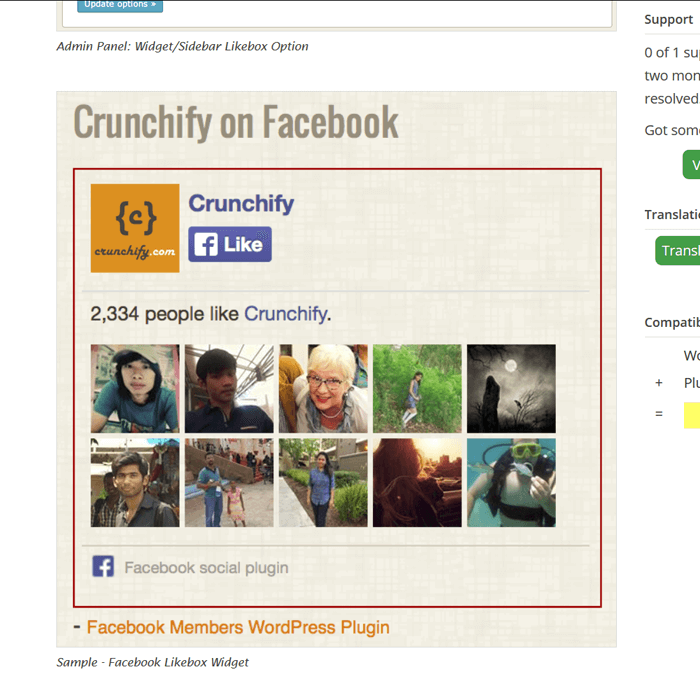 Facebook Members plugin