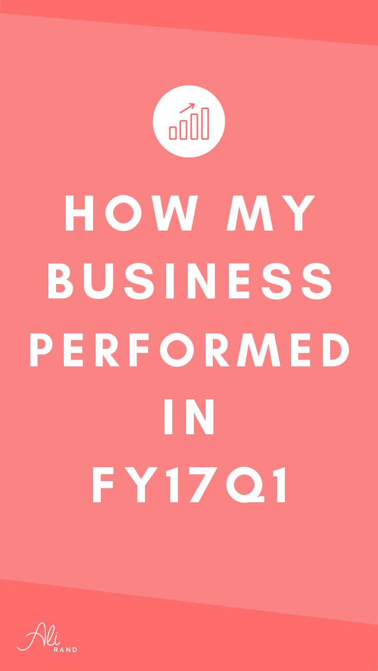 Check out my behind the scenes look at how my design business performed in FY17Q1. Plus get my Business Tools List to Work Smarter, Not Harder.