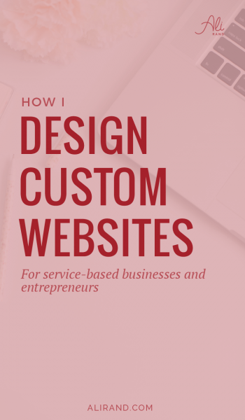 Ever wonder how a designer creates custom websites? Find out in my latest post and steal my secrets for your designing your own website! You'll also see the process my custom website design clients go through to get their dream site. This is a must read if you're considering hiring a web designer! https://alirand.com/custom-websites-process/