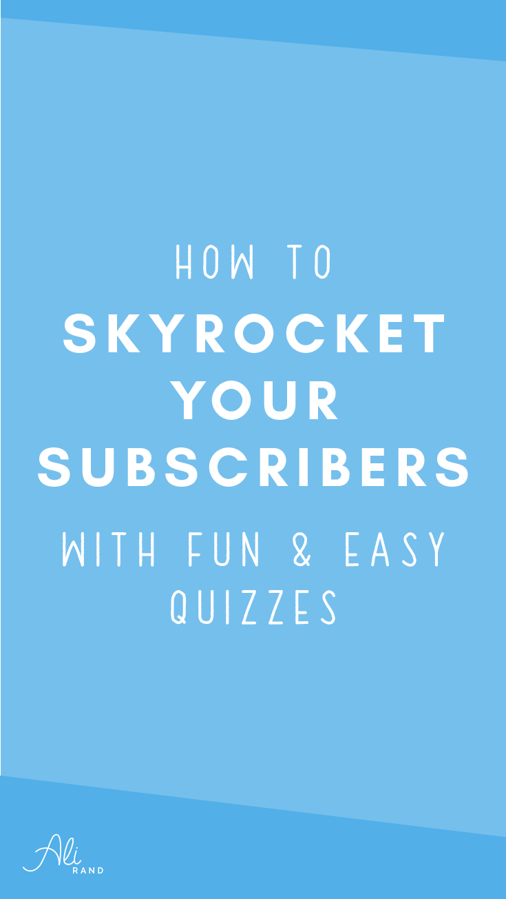 Learn how you can skyrocket your subscribers by creating fun and easy quizzes! >> https://alirand.com/interact-quiz-tutorial/