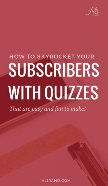 Want to learn how to quickly boost your subscribers? And via a method that's both FUN and EASY? Check out my tutorial walking you through setting up quizzes and integrating with your email marketing for instant subscribers. This is a great marketing idea you don't want to miss! Find out how to do it here >> https://alirand.com/interact-quiz-tutorial/