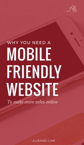 Are you struggling with a high bounce rate? Do you wish you could be making more sales from your website? In my latest post, I address one big reason why your website isn't working for you and I have a free guide you can download to fix it! >> https://alirand.com/why-mobile-friendly/
