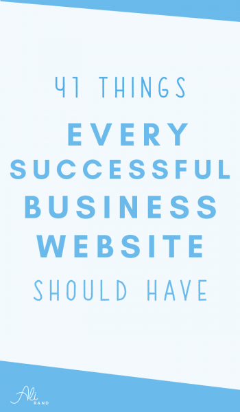 41 Things Every Successful Business Website Should Have