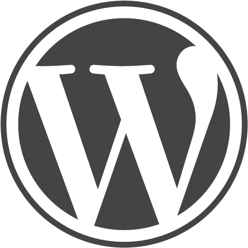 WordPress logo for the best CMS platform