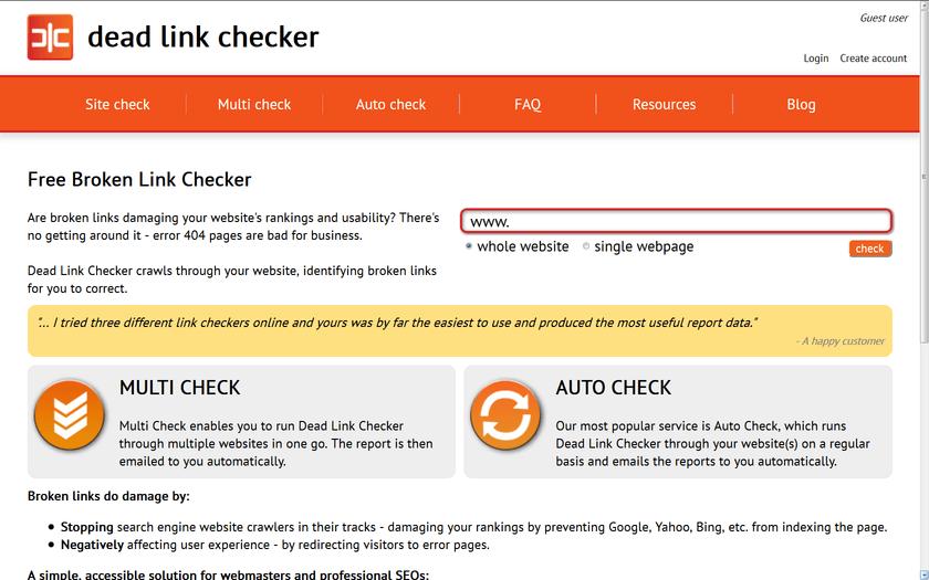 dead link checker