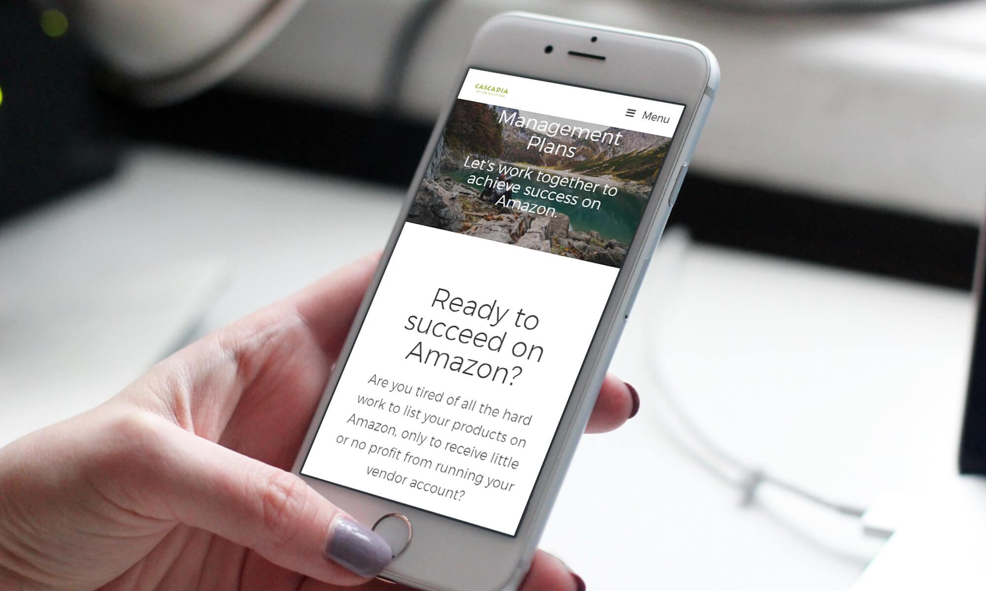 Ali Rand Custom Website for Cascadia Seller Solutions mobile responsive management page