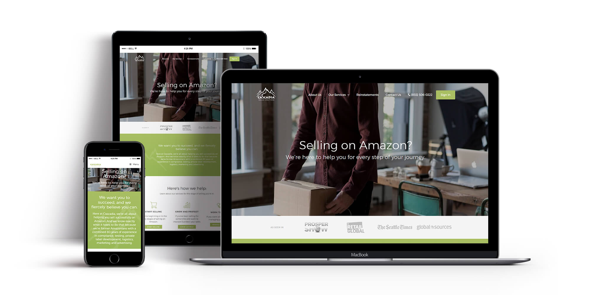 Ali Rand Custom Website for Cascadia Seller Solutions mobile responsive