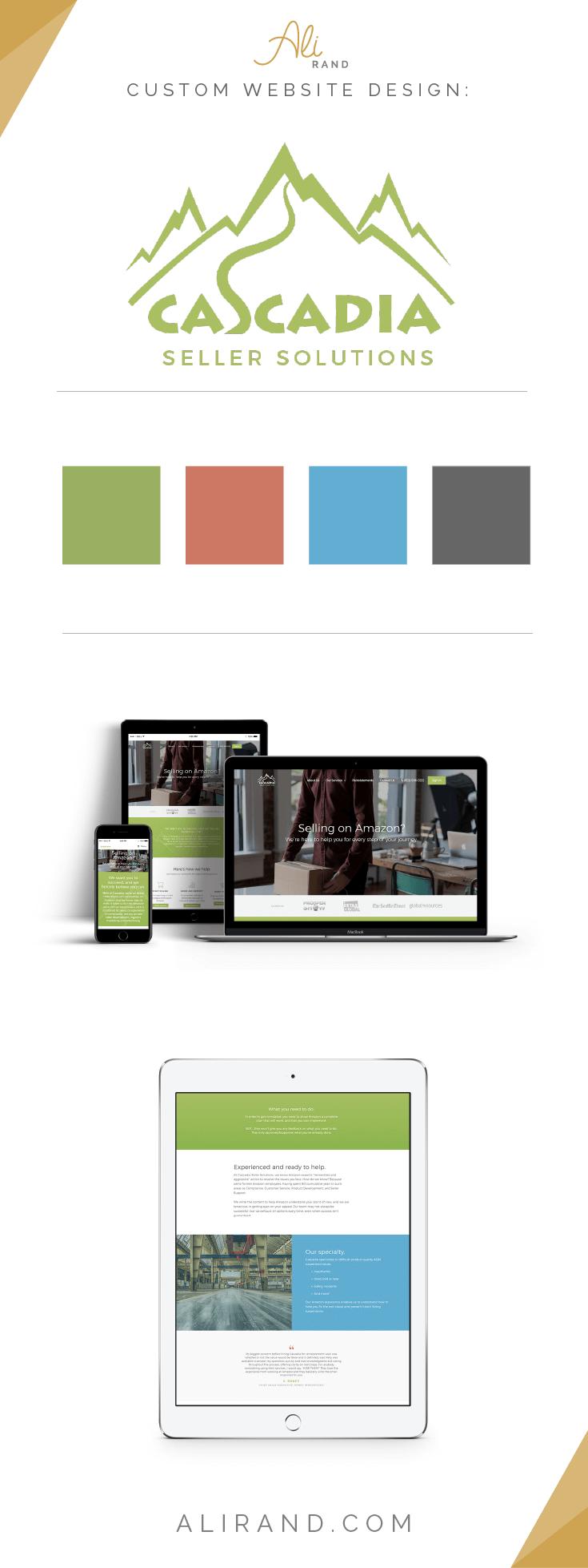 Cascadia Seller Solutions custom website design project by Ali Rand Websites