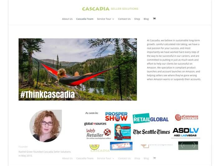 Cascadia experience in original website