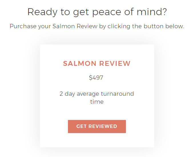 Salmon Review item with Woo integration