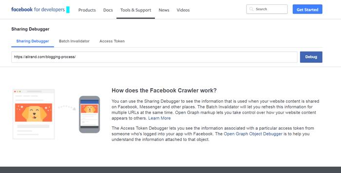Facebook Debug URL