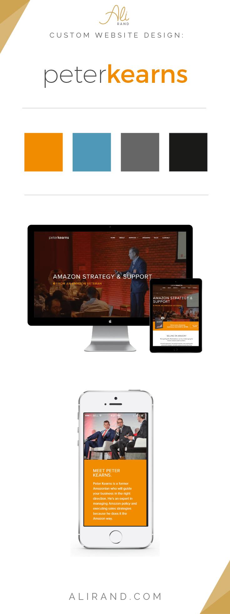 Ali Rand Custom Website Design for Peter Kearns Amazon Seller consultant