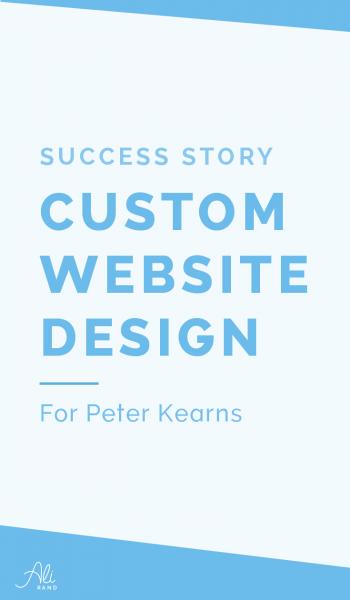 Website Design Success Story: Peter Kearns