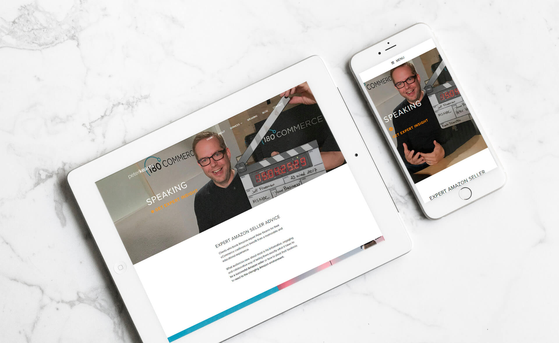 Peter Kearns mobile responsive website