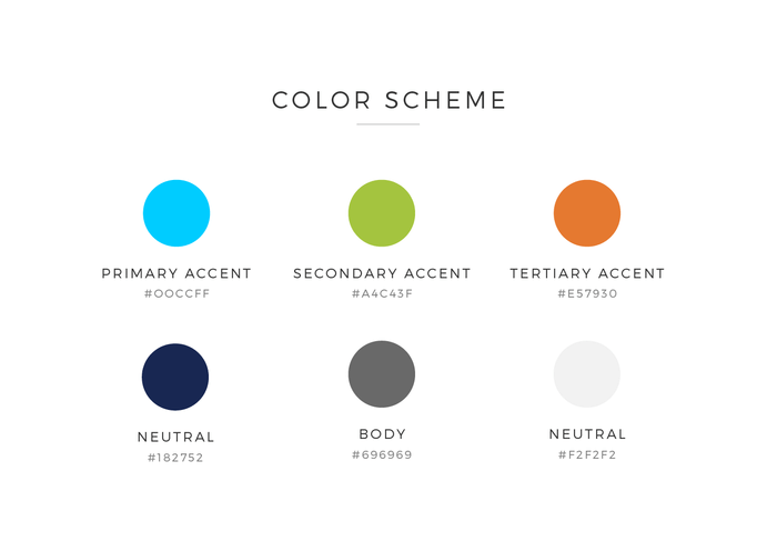 color scheme for 180commerce design by Ali Rand