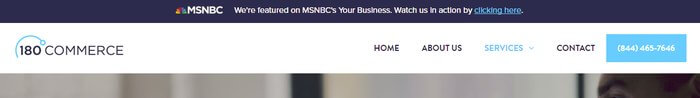 top bar for MSNBC interview of 180commerce