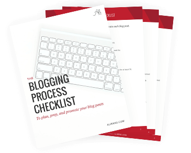 The Blogging Process Checklist by Ali Rand Websites