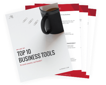 My Top 10 Business Tools to work smarter not harder by Ali Rand