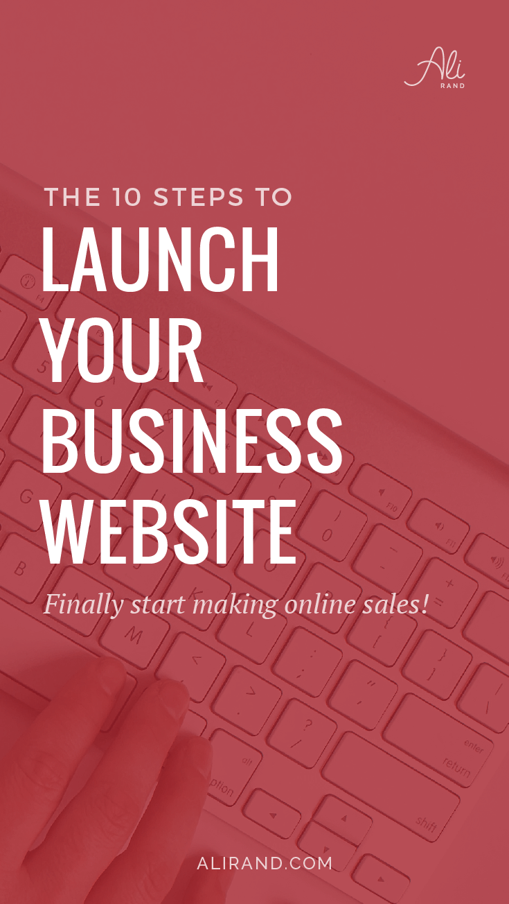 Time to FINALLY launch your WordPress business website and start booking clients and making sales! It's not as hard as you think…you just need to know what to do AND in what order. Find out how to do it here https://alirand.com/website-launch-steps/ #smallbiz #entrepreneur #wordpress #websites #webdesign