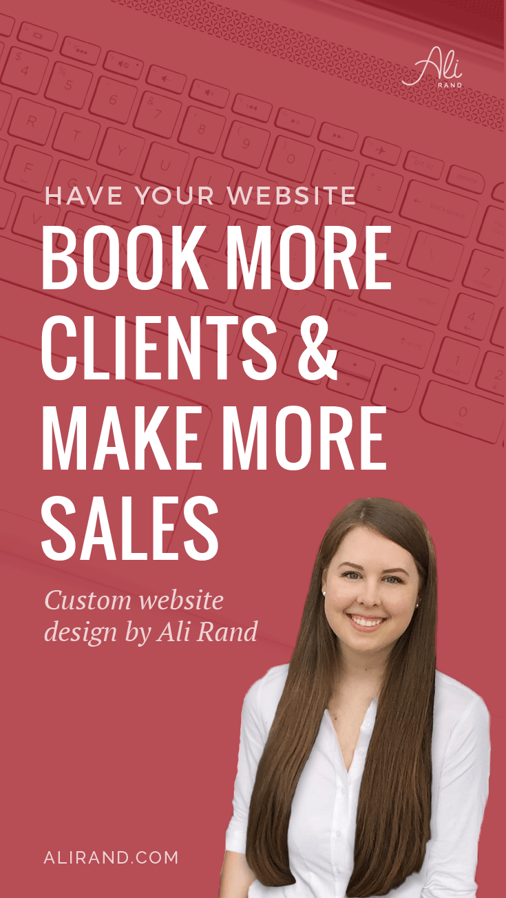 Make More Online Sales with Custom Website Design by Ali Rand #webdesign #smallbiz #WordPress