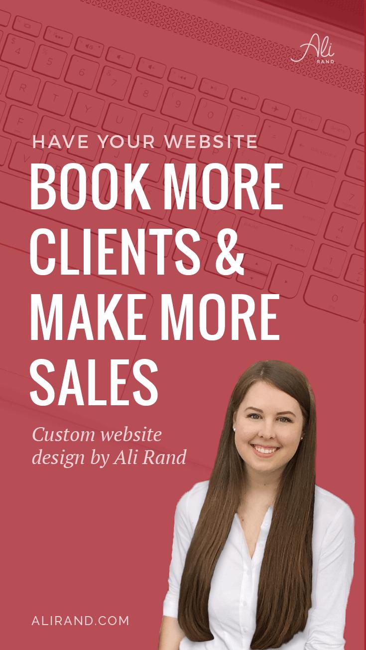 Make More Online Sales with Custom Website Design by Ali Rand #webdesign #smallbiz #WordPress