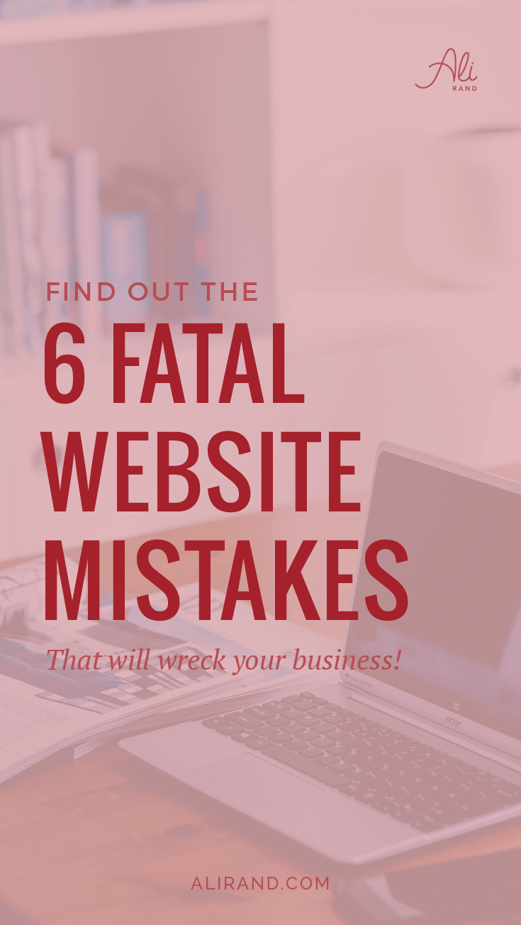 To make your online business successful, find out which mistakes you can't afford to make! #4 is crucial, but I'm partial to #6. https://alirand.com/fatal-website-mistakes/ #webdesign #smallbiz #entrepreneur