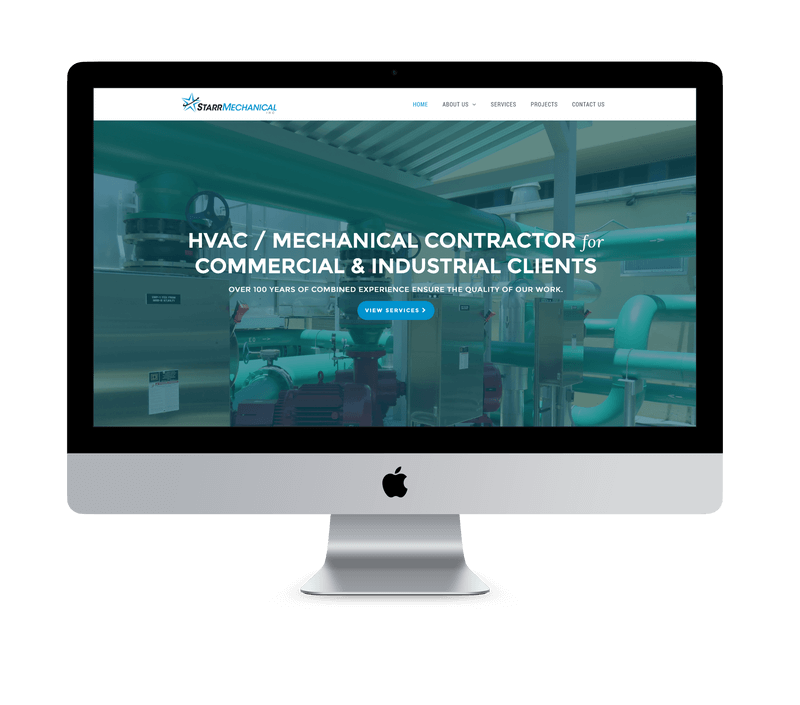 Starr Mechanical home page after redesign by Ali Rand Websites