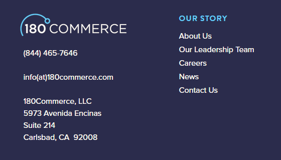 contact info in footer Ali Rand