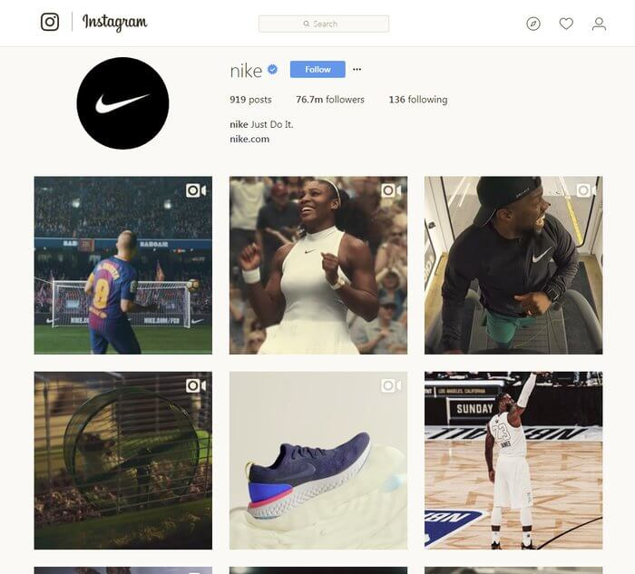 nike_instagram_profile_page_visual_consistency_ali_rand