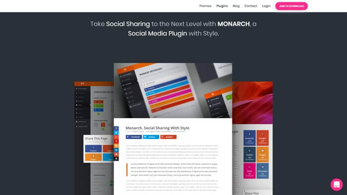 monarch wordpress social media sharing plugin