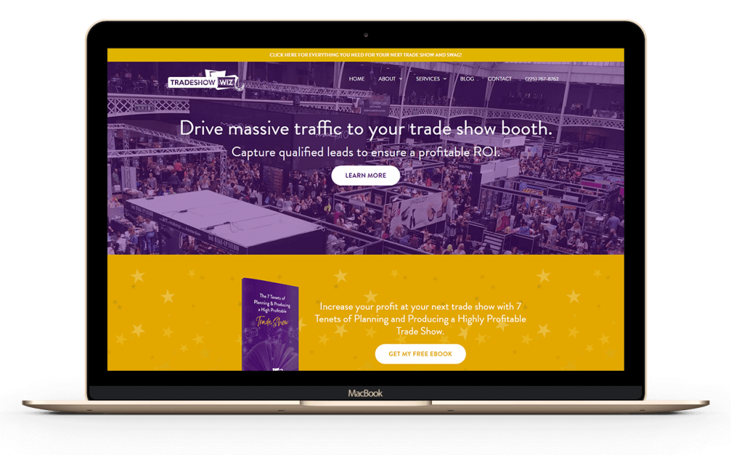 trade show wiz home page design by Ali Rand