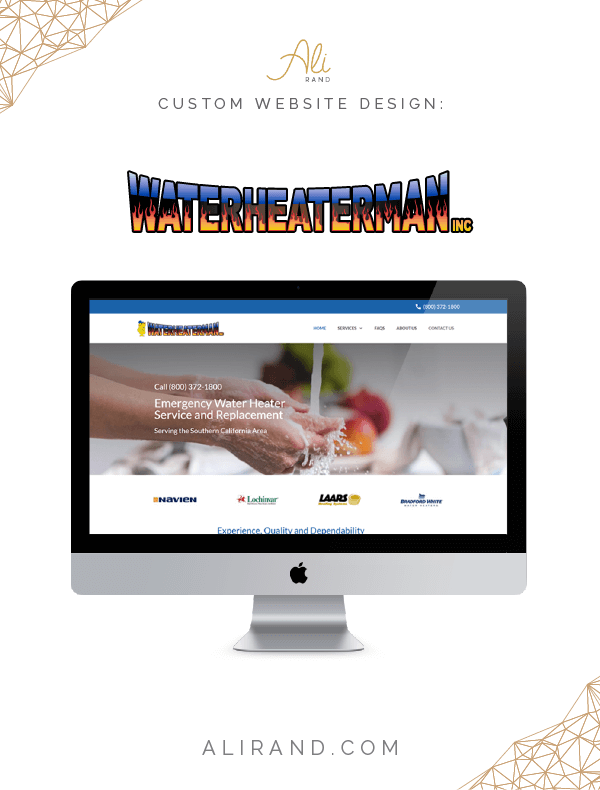 Just finished launching the WordPress custom website for Water Heater Man, Inc. I love how clean and friendly the site turned out! >> https://alirand.com/portfolio/water-heater-man/ #webdesign #websites